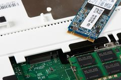 M 2 SSD和槽孔 免版税图库摄影