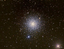 M3 Star Cluster. Astrology astronomy cluster comet constellation cosmos galaxy l royalty free stock photography
