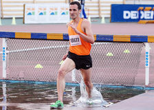 3000 m Steeplechase Athlete Stock Images