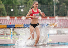 3000 m Steeplechase Woman Athlete Royalty Free Stock Images