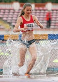 3000 m Steeplechase Woman Athlete Stock Images