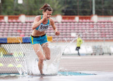 3000 m Steeplechase Woman Athlete Royalty Free Stock Photo