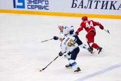 M StPierre (93) et T Zhailauov (8) Images libres de droits