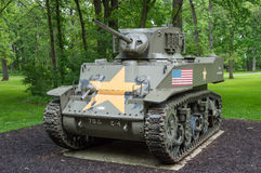 M5 Stuart Light Tank (vista delantera) Fotografía de archivo