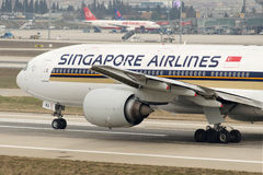 9M-SVJ Singapore Airlines Boeing 777-212ER Stockbilder