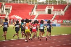 1.500 m.in Tajlandia Otwarty Sportowy mistrzostwo 2013. Zdjęcia Stock