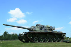 M-60 tank at Vietnam War Memorial  in Bangor, Maine Stock Photography