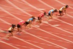 100m.in Thailand öppen idrotts- mästerskap 2013. Arkivbilder