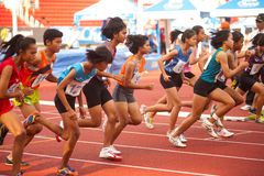 1500 m.in Thailand Open Athletic Championship 2013. Royalty Free Stock Photography