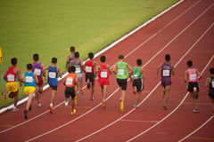 1.500 m.in-Thailand Open-athletische Meisterschaft 2013. Stockfoto