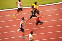 100m.in Thailand Open-athletische Meisterschaft 2013. Lizenzfreies Stockbild