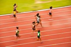 100m.in Thailand Open Atletisch Kampioenschap 2013. Royalty-vrije Stock Foto