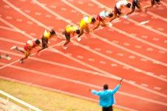 100m.in Thailand Open Atletisch Kampioenschap 2013. Stock Afbeelding