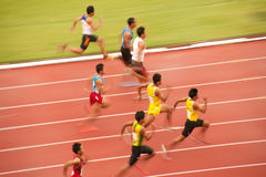 100m.in Thailand Open Atletisch Kampioenschap 2013. Royalty-vrije Stock Afbeeldingen