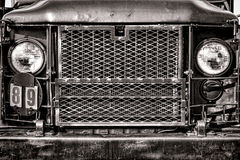 M35 United States Army Cargo Truck Front Grille Stock Image