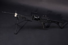 M249 us army machine gun on black Stock Photography