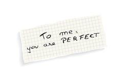 ¡A mí, usted es perfecto! Fotos de archivo