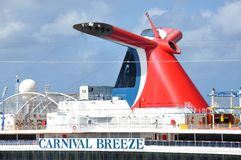 M/V Carnival Breeze funnel Stock Image