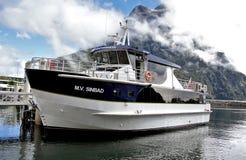 M V Sinbad. Milford Sound NZ Royalty Free Stock Photography