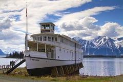 M.V. Tarahne, an early 1900s Lake Boat in Atlin, B.C. Royalty Free Stock Photography