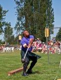 M.Ü. VERNON, WA - 9. Juli - schottische Hochland-Spiele Stockfotos
