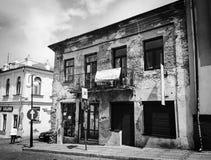 'M - vieux bâtiment négligé de CheÅ dans une ville Images libres de droits