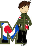 M is voor Mod. stock illustratie