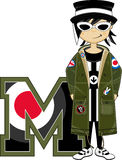 M is voor Mod. vector illustratie