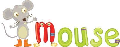 M voor muis vector illustratie
