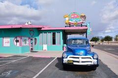 M. Wagon-restaurant de la DZ Route 66 dans Kingman image libre de droits