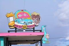 M. Wagon-restaurant de la DZ Route 66 dans Kingman images libres de droits