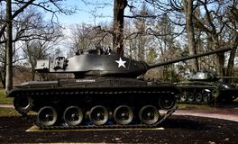 M41A3 Walker Bulldog Tank. This is a picture of a M41A3 Walker Bulldog on display at Cantigny Tank Park located in Winfield, Illinois in DuPage County.  The M41 Stock Images