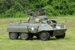 M8 Windhondpantserwagen van het Museum van Amerikaans Pantser tijdens Wereldoorlog IIkamp Royalty-vrije Stock Fotografie