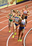 800m Women Qualifying Rounds. BELGRADE-MARCH 3:800m Women Qualifying Rounds at the` European Athletics Indoor Championships 2017 ` on March 3,2017 in Belgrade Royalty Free Stock Images