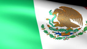 M�xico Flag Waving. Video footage stock footage