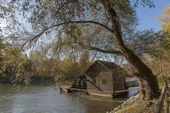Młyn na rzece Zdjęcia Royalty Free