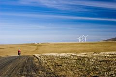 młyna wiatr rolnych obrazy royalty free