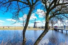 Młyny Kinderdijk - holandie Zdjęcie Stock