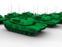 M1 Abrams tank. An illustration of a group of M1 Abrams tank - the US standard tank Stock Images