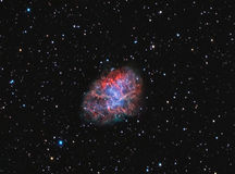 M1 Crab Nebula. Supernova remnant and pulsar wind nebula in the constellation of Taurus royalty free stock photo