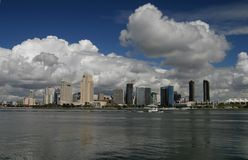 M14 San Diego cityline. San Diego skyline from Coronado Island Royalty Free Stock Photo