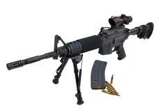 M16 - Puledro M4 a coperchio piatto immagini stock