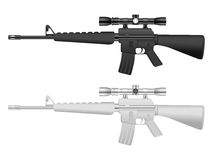 M16 sniper set Royalty Free Stock Photos
