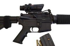M16 - Veulen M4 Met platte kop Stock Fotografie