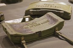 M18 Claymore mines on display in the War Remnants Museum in Ho C Stock Photography