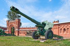 M1955 (D-20) gun-howitzer Stock Photos