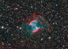 M27 Dumbbell Nebula. Astronomy telescope nebula star stock images