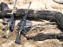 m4步枪美国 库存图片