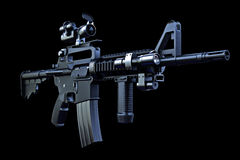 M4 tactical rifle. With combat optics and laser sighting Royalty Free Stock Images