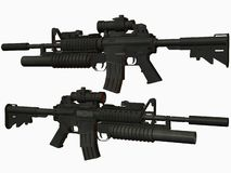 M4 Weapon Royalty Free Stock Images